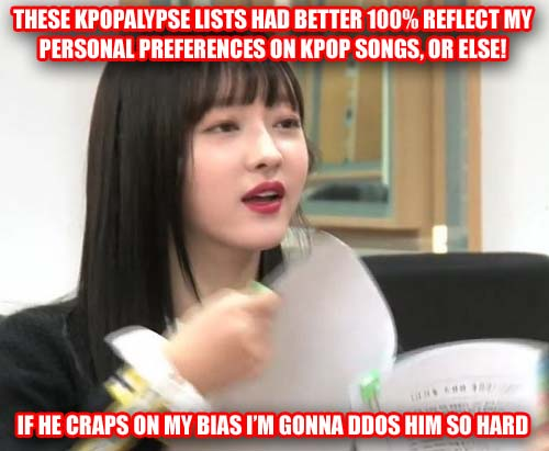 honourable and dishonourable mentions for 2017 kpopalypse